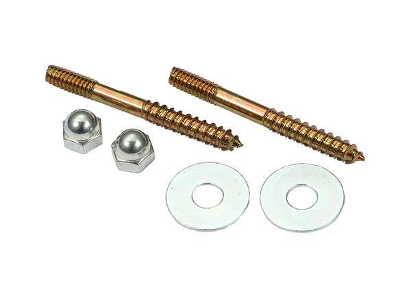"Toilet Screw Sets Round Washer 1 / 4"" X 2 - 1 / 2"""