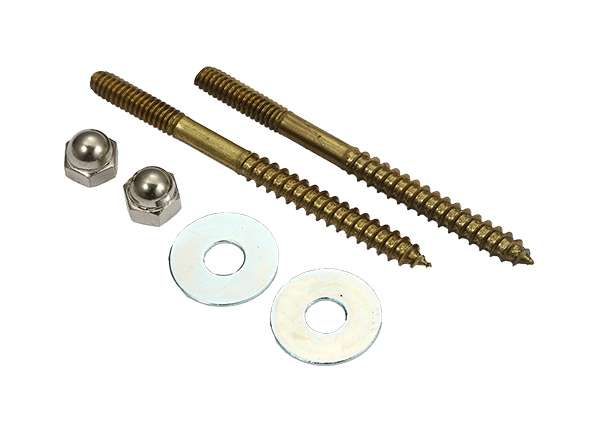 "Toilet Screw Sets Round Washer 1 / 4"" X 3 - 1 / 2"""