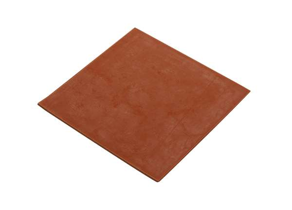 Sheet Red Rubber 3 / 32 X 6 X 6